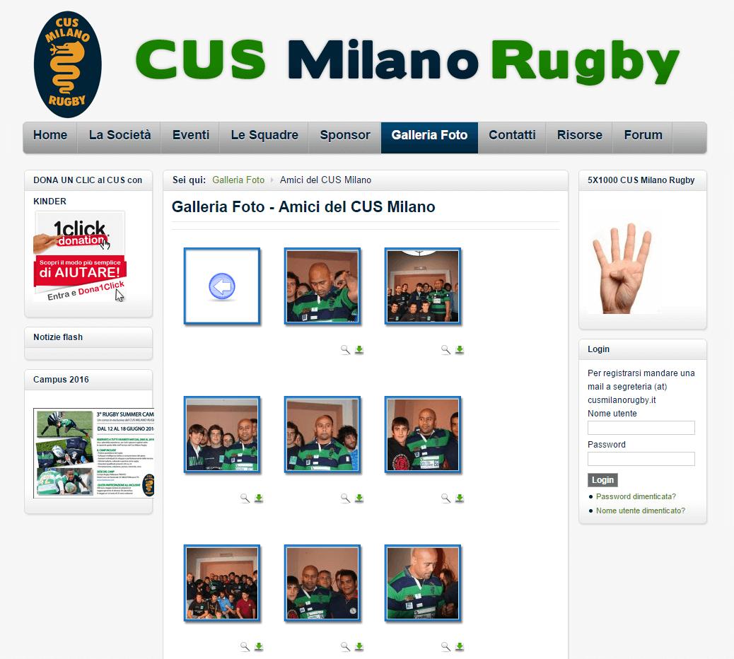 Cus Milano Rugby Galleria Fotografica