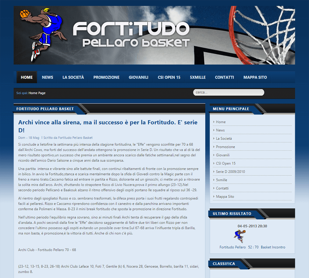 Fortitudo Pellaro Home Page