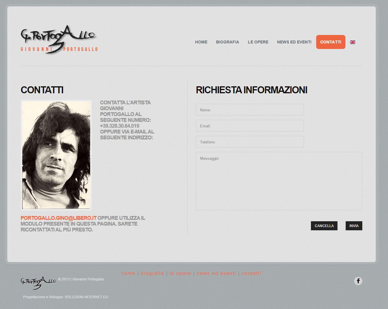 Giovanni Portogallo Pagina Contatti