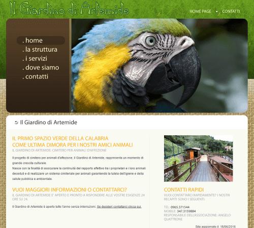 Il Giardino di Artemide Home Page