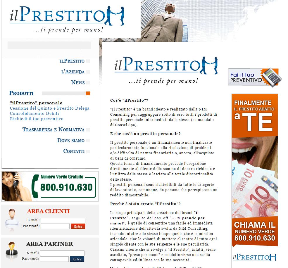 ilPrestito - Pagina interna prestiti personali