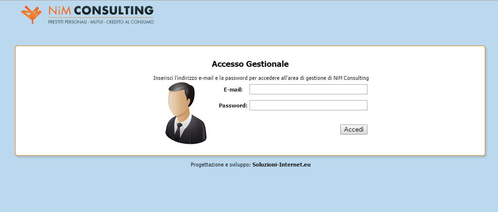 ilPrestito - Pagina Login gestionale