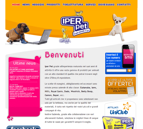 Iper Pet Home Page