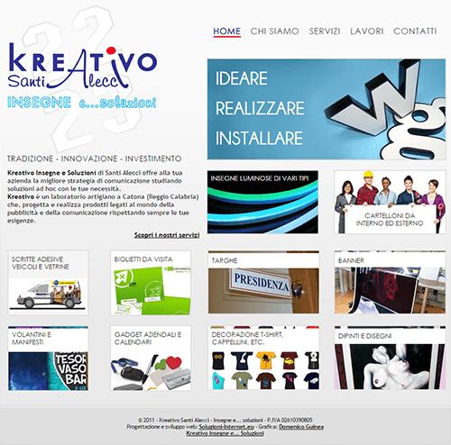 Kreativo Santi Alecci Home Page