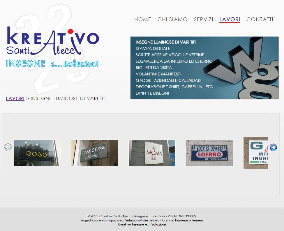 Kreativo Santi Alecci Pagina Prodotti