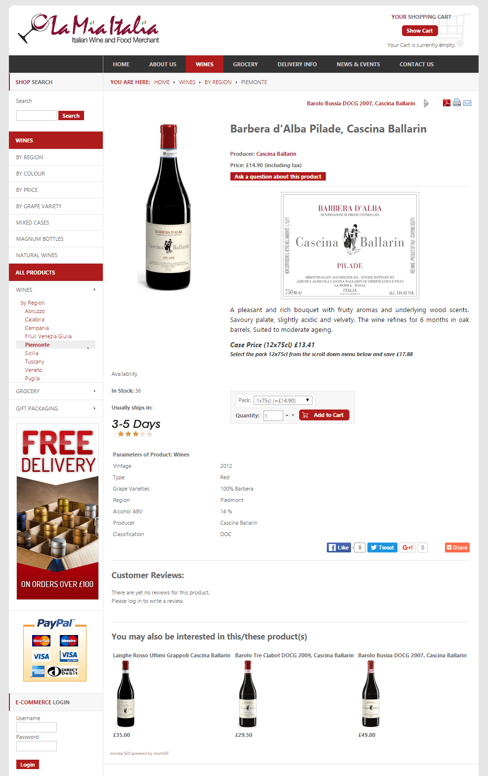 La Mia Italia Shop Pagina dettaglio prodotto