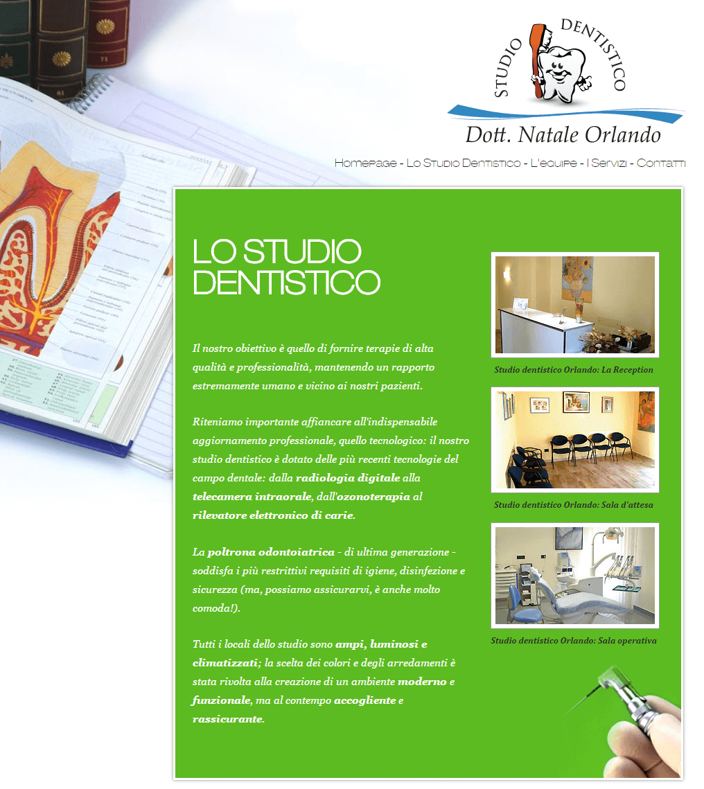 Studio Dentistico Orlando Pagina Lo Studio