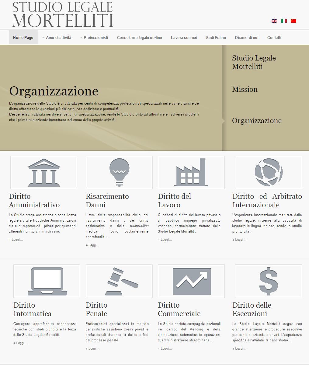 Studio Legale Mortelliti Home Page parte alta