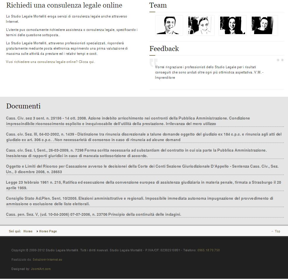 Studio Legale Mortelliti Home Page parte bassa