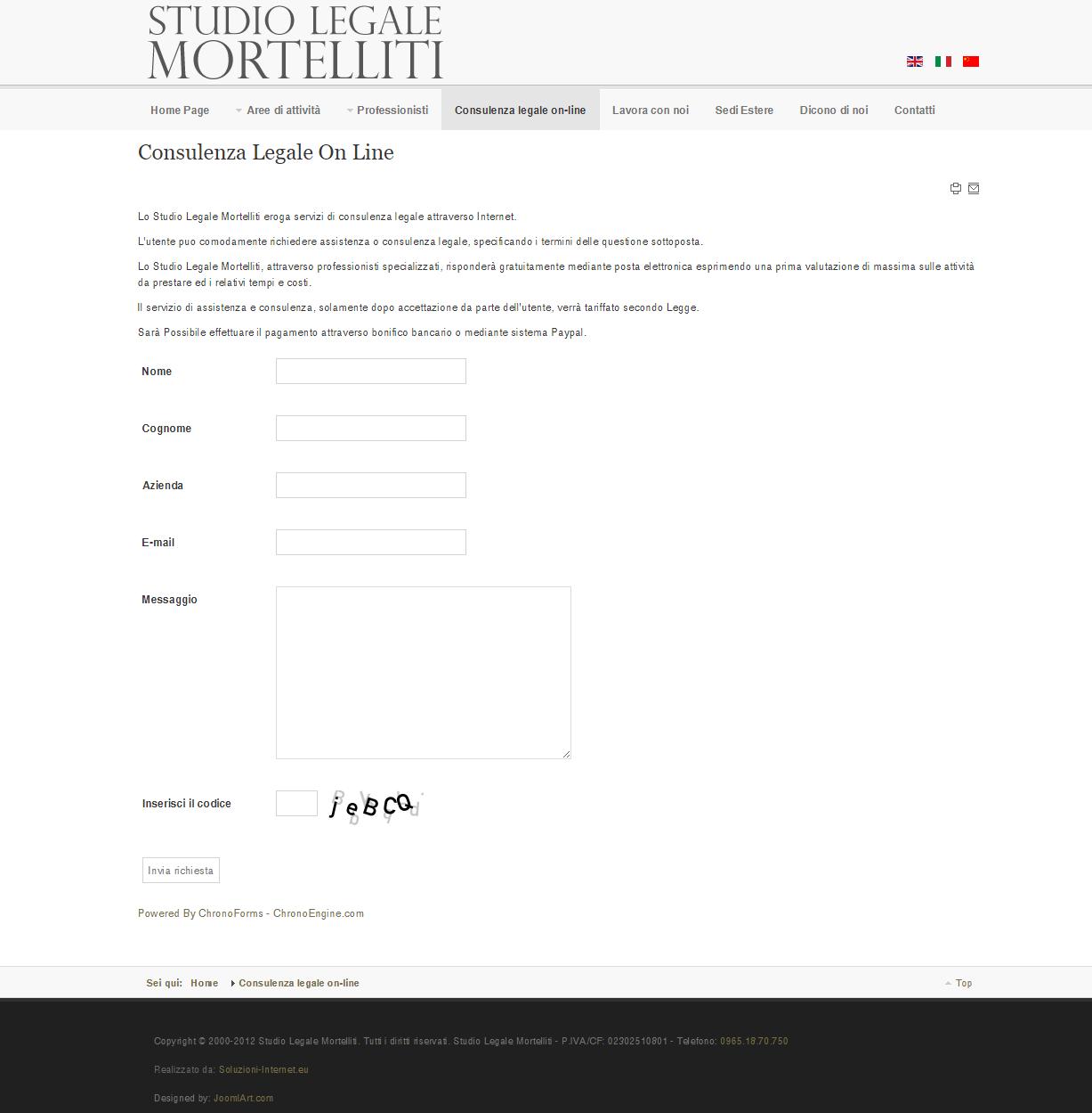 Studio Legale Mortelliti Pagina Consulenza online