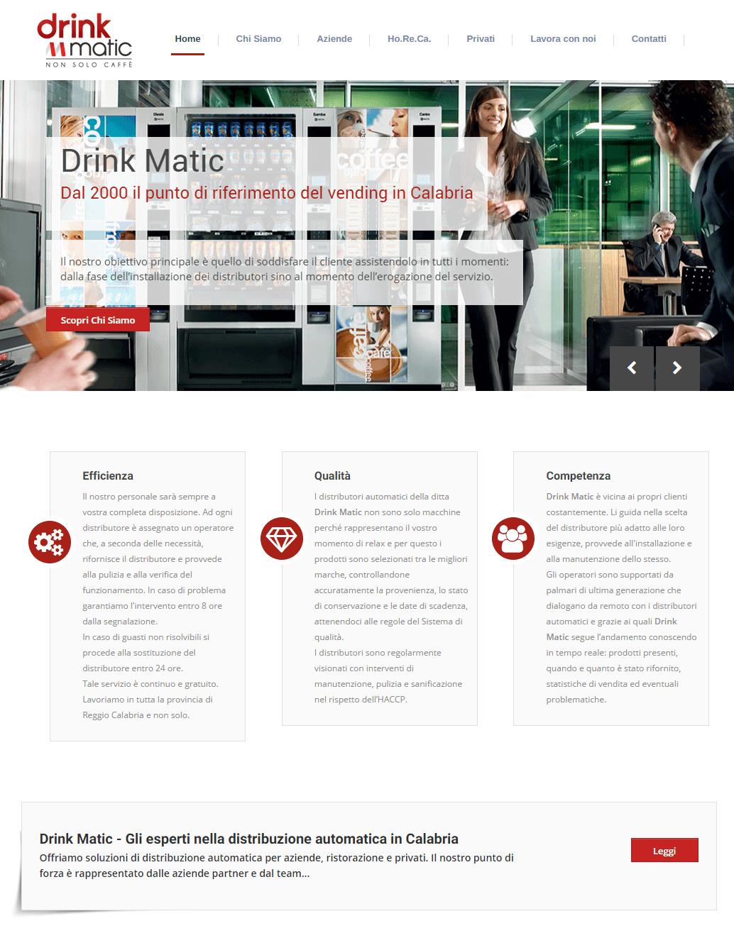 Drink Matic - Dettaglio Home Page