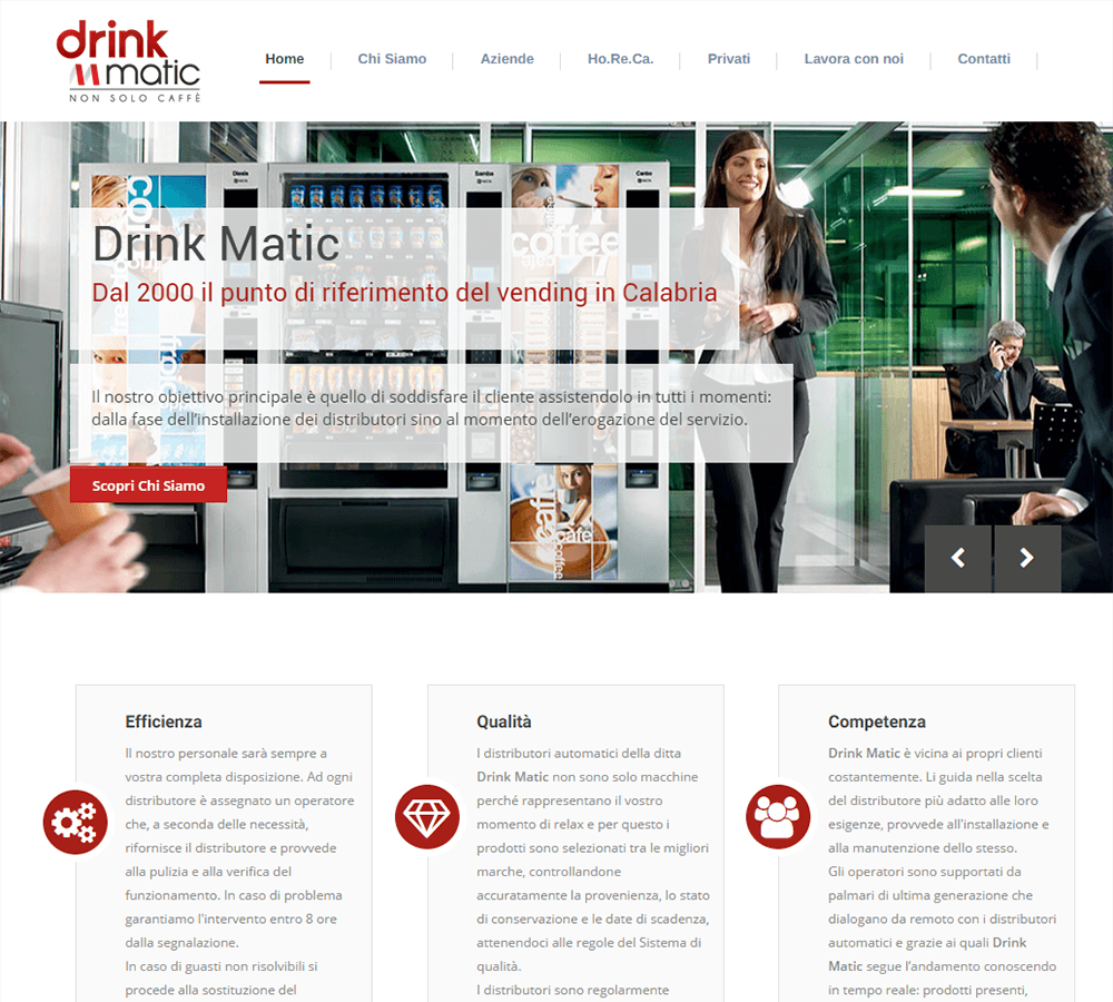DrinkMatic - Home Page