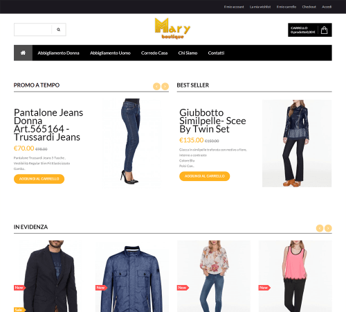 Mary Boutique - Home Page