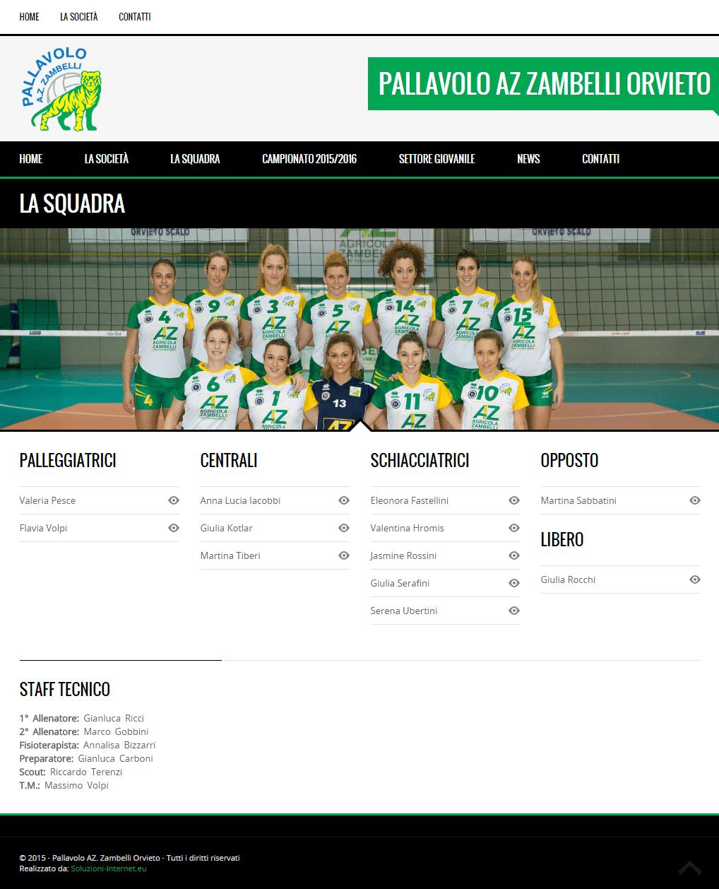 Pallavolo Zambelli - Pagina La Squadra