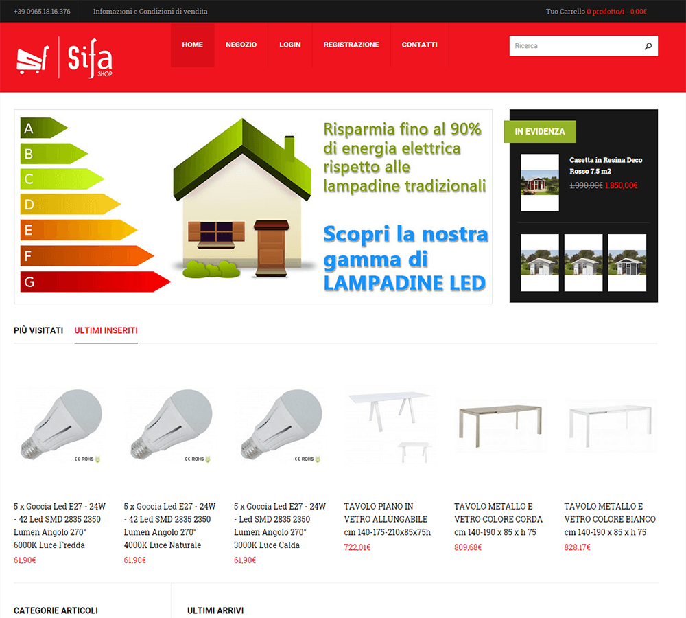 SiFa Shop - Home Page