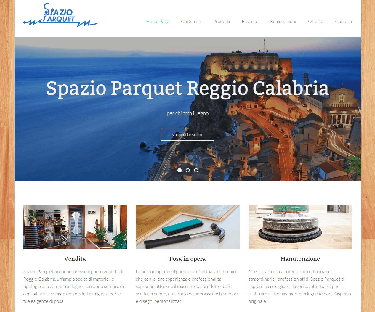 Spazio Parquet - Parte alta Home Page
