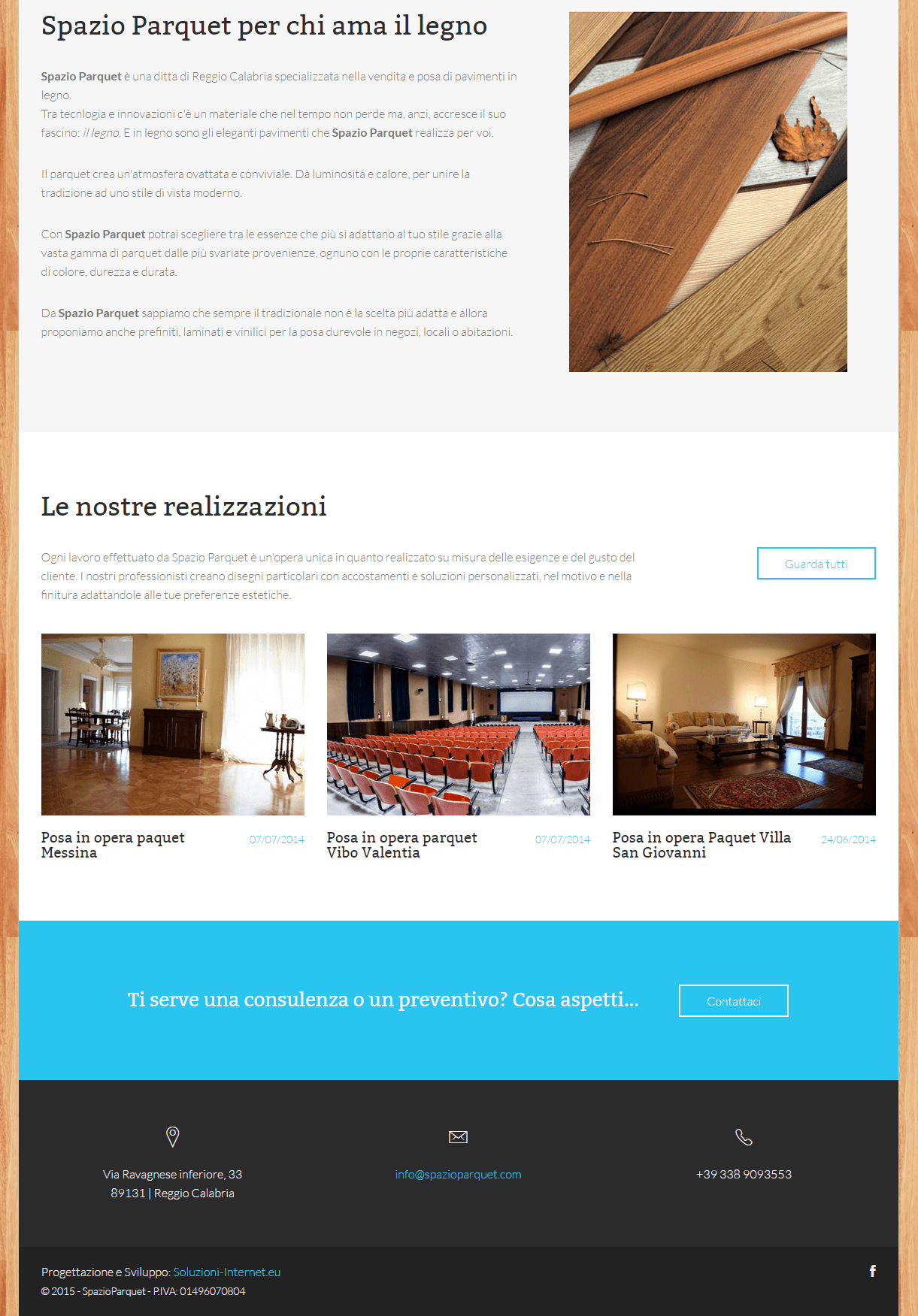 Spazio Parquet - Parte bassa Home Page