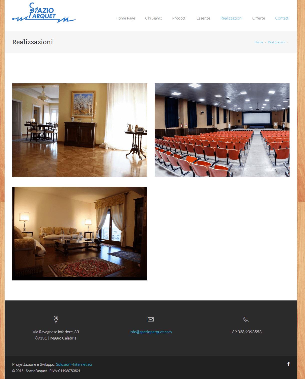 Spazio Parquet - Pagina Realizzazioni