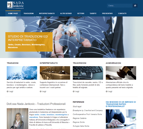 Traduzioni Serbo Croato - Home Page