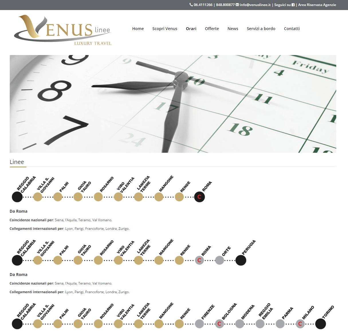 Venus Linee - Pagina Orari