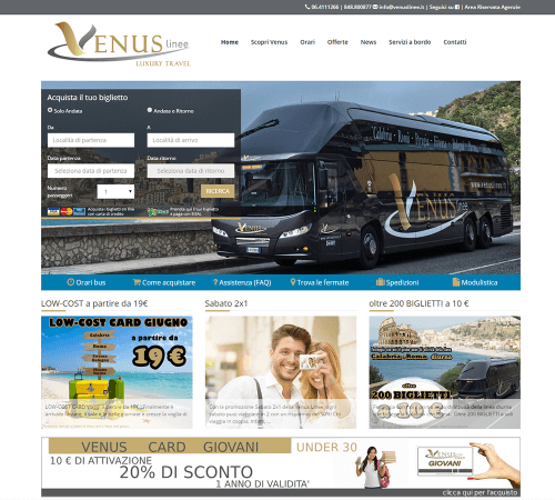 Venus Linee - Home Page