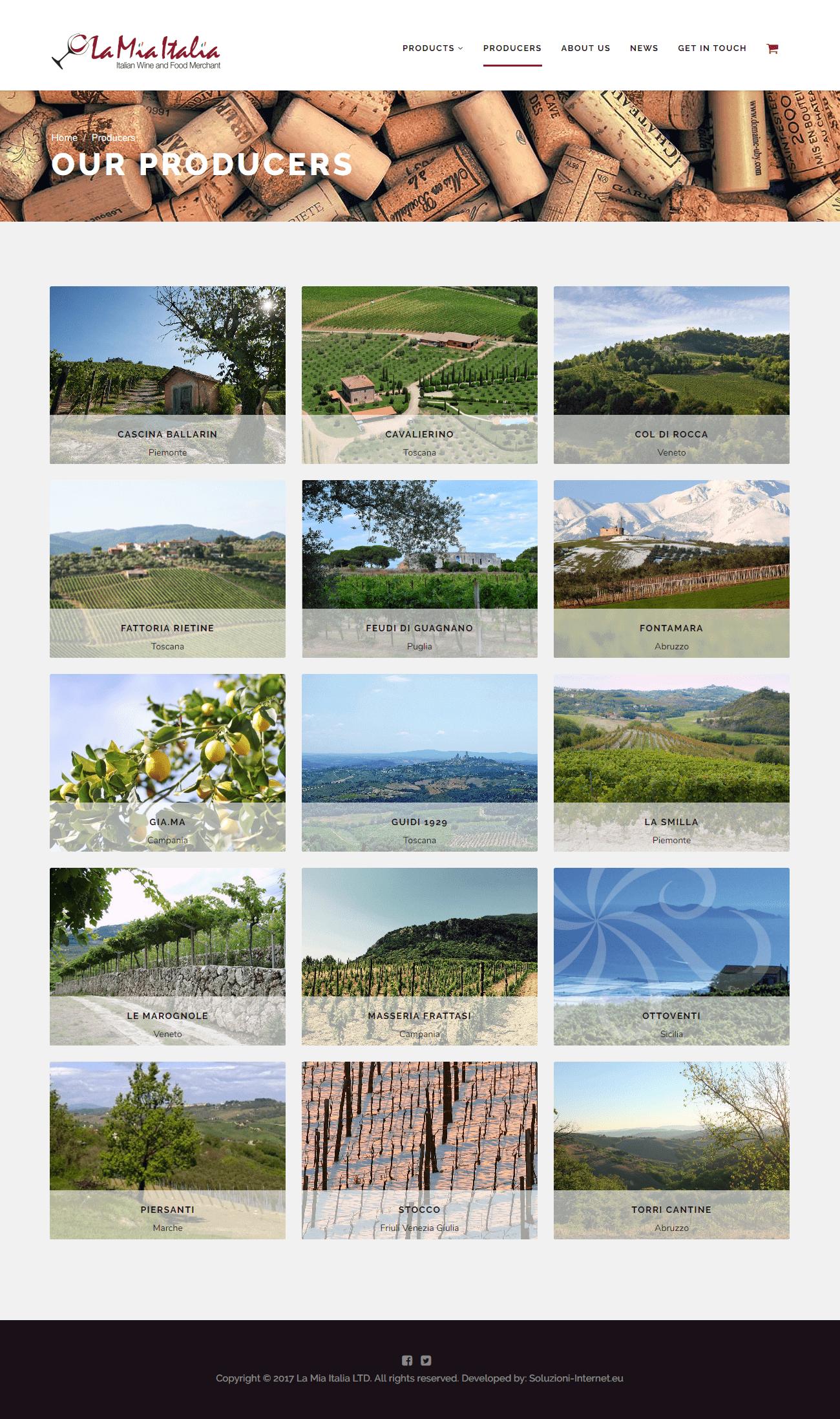 La Mia Italia - Pagina Producers