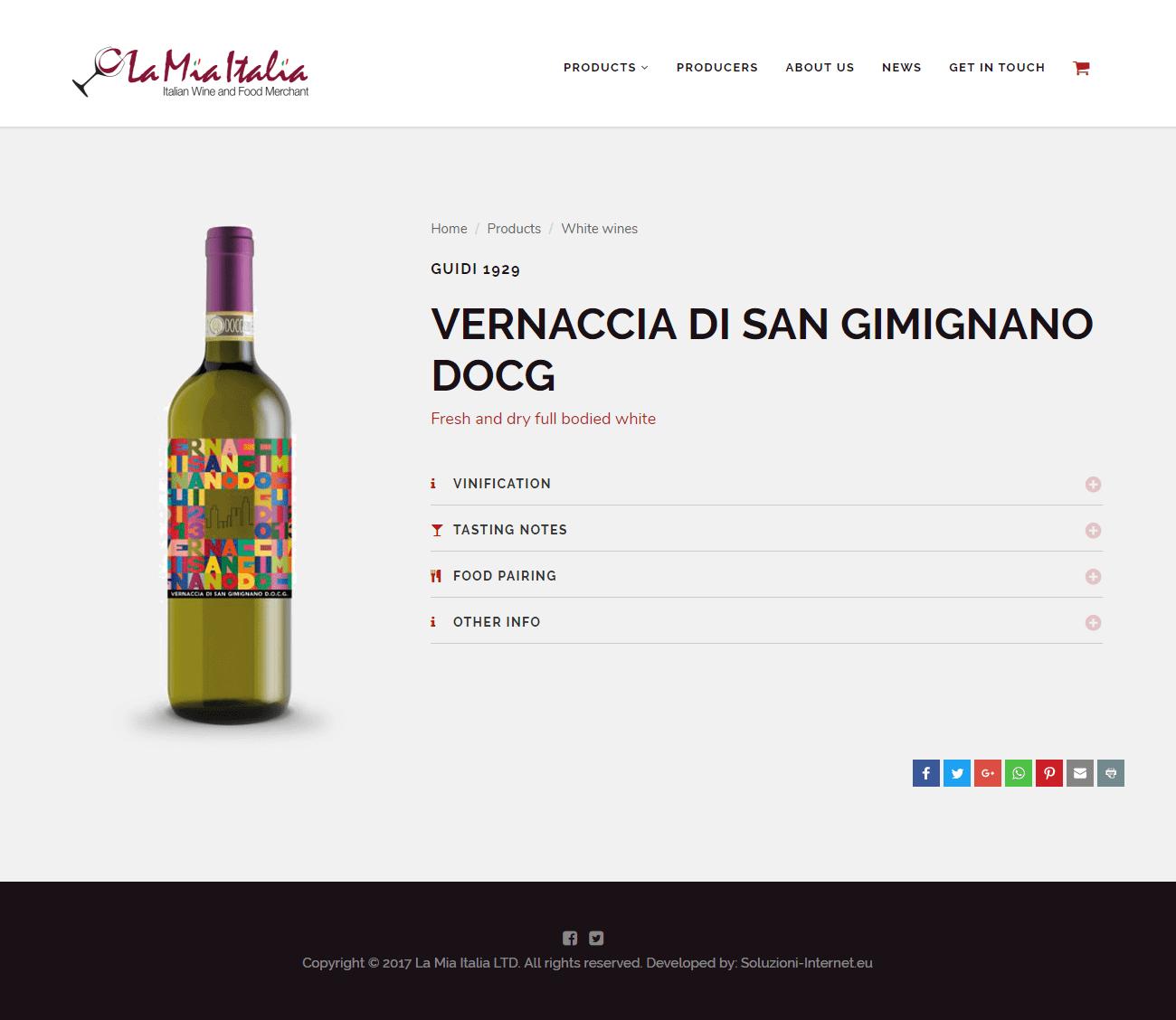 La Mia Italia - Pagina dettaglio Prodotto